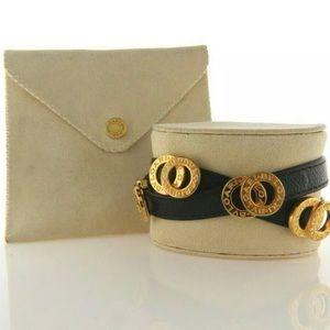 Bulgiar Bvlgari Leather Double Coiled Bracelet